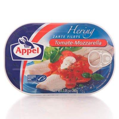 Appel Herrin in Tomate-mozarella