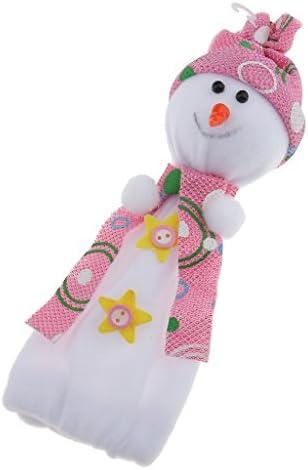 Fenteer クリスマス雪だるま人形アップルキャンディ袋クリスマスキッズギフトストッキングバッグ - 青