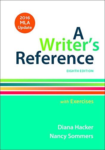 Writer's Ref.W/Exercises,Mla Updated
