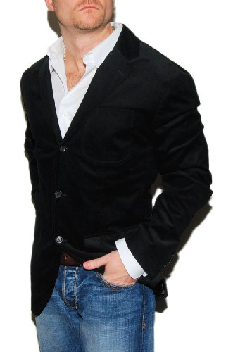Polo Ralph Lauren Mens Corduroy Blazer Sportcoat Black (Ralph Lauren Corduroy Blazer)