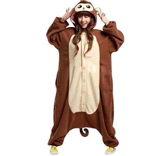 [Foresightrade Adults and Children Animal Cosplay Costume Pajamas Onesies Sleepwear S] (Child Monkey Costumes)