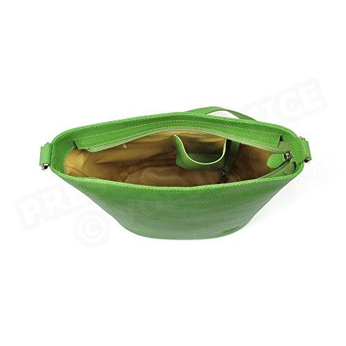 Tasche Schulter Biarritz Leder Herstellung Luxe Französische Grün - Grün