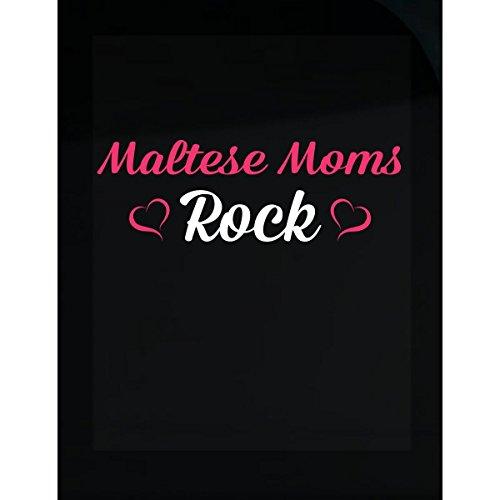 Inked Creatively Maltese Moms Rock Sticker
