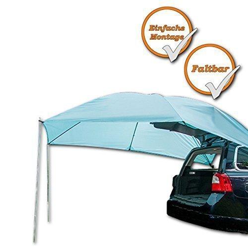 Sonnensegel fürs Auto, 200cm x 300cm, zum Schutz vor Wind, Regen und Sonne, blau