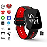 Fitness Tracker by Torus Pro | Smart Watch, Fitness Watch, Weight Loss | Get Fit and Stay Fit | Heart Rate Monitor, Pedometer, Watch, Sleep Monitor, Blood Pressure Monitor, Oxygen Saturation Monitor, Activity Tracker, Fitness, Bluetooth, Calorie Counter, Wrist Heart Rate Monitor, Fit Bit, Digital Watch, Best Heart Rate Monitor, SMS and Call Reminder plus Sleep Monitoring, Wireless Phone App, Long Battery Life, Facebook, Skype, Twitter, WhatsApp and Call Reminders, Easy USB charge