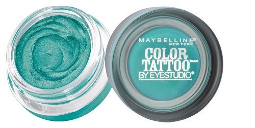 Halloween Makeup New York (Maybelline New York Eyestudio ColorTattoo Metal 24HR Cream Gel Eyeshadow, Edgy Emerald, 0.14 Ounce (1)
