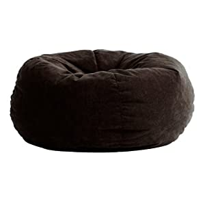 Comfort Suede Black Onyx 5 Ft King Fuf Chair