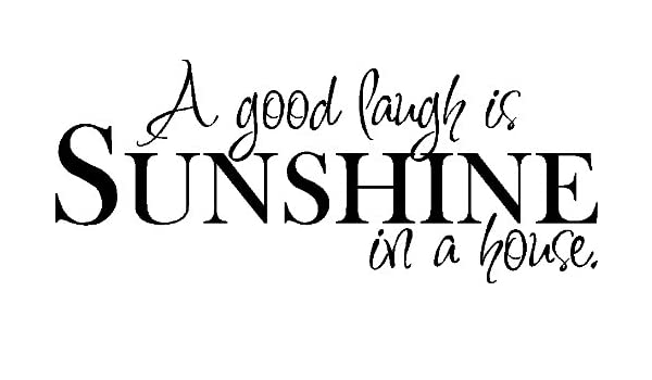A good laugh is sunshine in a...WALL QUOTE DECAL VINYL LETTERING SAYING