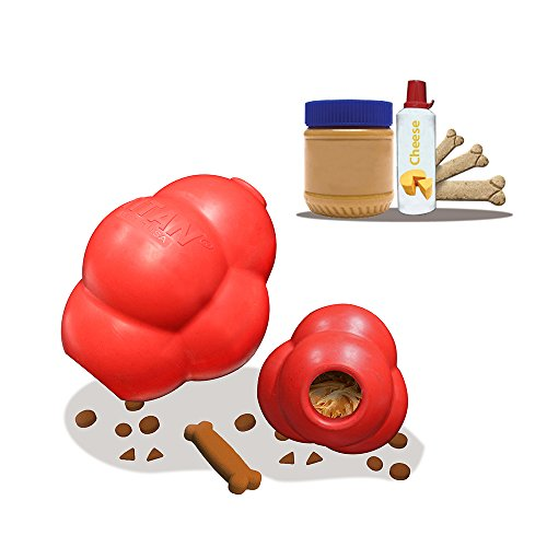 41opBY2uaCL Titan Busy Bounce, Tough Durable Treat Dispensing Dog Toy With Unpredictable Bounce, Large