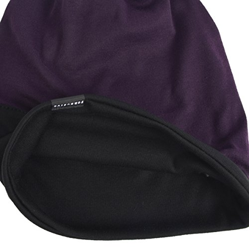 HISSHE de para Punto Gorro Hombre Purple Black rHR8rwq