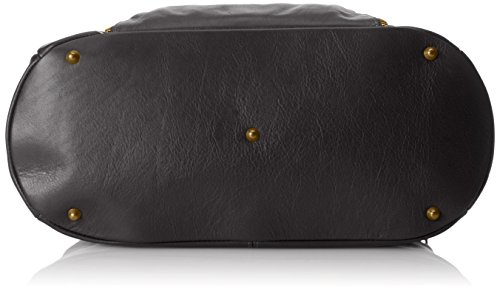 Italy CTM en Sac véritable Femme Satchel Nero Noir Made Style 100 Grande cuir in 47x29x21cm qHnqwU7Wr