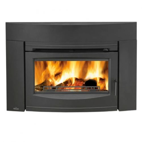 Wood Burning Traditional Front Fireplace Insert - Black by Napoleon Fireplaces