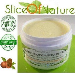 Tranche de la nature © organique Afrique de l'Est nilotica beurre de karité 100% pure et premières 4 onces