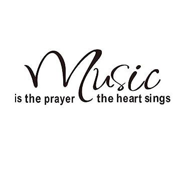 """QTXINGMU """"La Música Es La Oración del Corazón Canta Muro Pegatinas Cartas Salón Pared"""