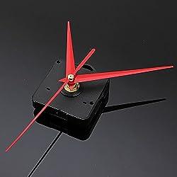 Quartz Clock Movement - Wall Clock Mechanism - Clock Kit - Clock Movement - Clock Mechanism - DIY Red Triangle Hands Quartz Wall Clock Movement Mechanism