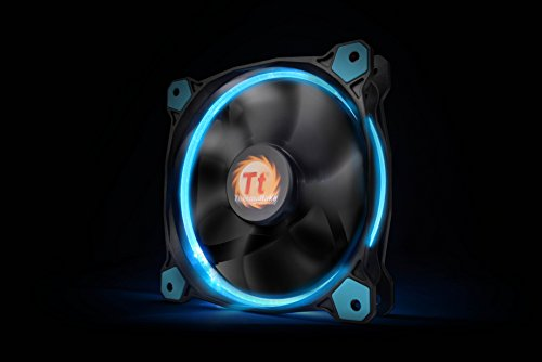 Thermaltake Riing 12 Series Blue High Static Pressure 120mm Circular LED Ring Case/Radiator Fan with Anti-Vibration Mounting System Cooling CL-F038-PL12BU-A by Thermaltake (Image #5)