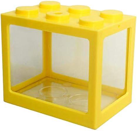 Serenable Mini pecera, pequeña pecera Betta pecera de acuario para medusas peces dorados , caja de decoración de -Varios colores 3