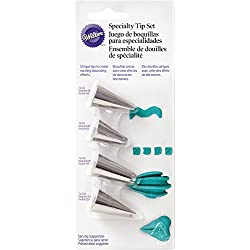 Wilton 418-9614 4 Piece Specialty Icing Tip Set
