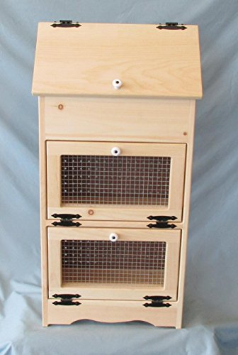 Bread Veggie Bin with Wire Doors (Wooden Bread Bin)