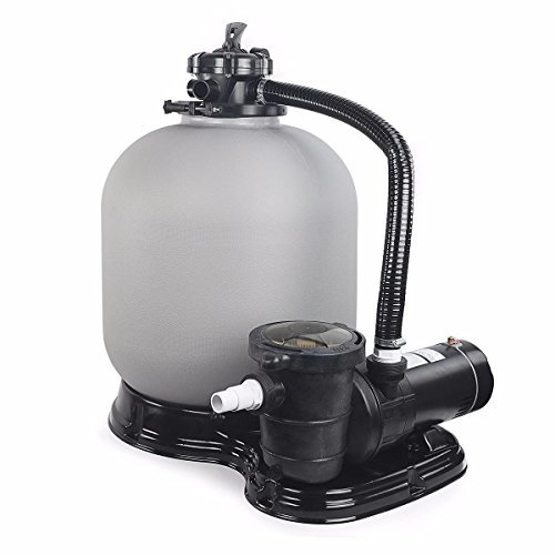"Garden&Park Above Ground Swimming Pool Sand Filter System with Pump 4500GPH 19"" 1HP"