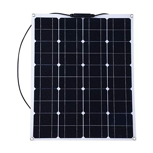- Zerone 80W Semi Flexible Solar Panel Mono Semi Flexible Solar Panel Battery Charging for Smart Car RV Boat Caravan