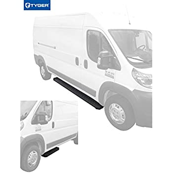"""Running Board Side Step 5in Silver Fit Dodge ProMaster 136/""""//159/"""" Wheelbase 14-19"""