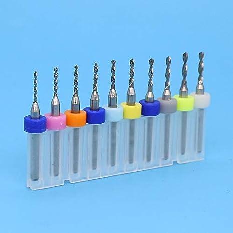 Color : 2.6mm 10PCS, Size : 3.175mm HHUI-PCBZUANTOU 10pcs 2.1mm-3.0mm Carbide PCB Drill Bit CNC Router Wood Metal Wood Cutting Board Engraving Exercise Tool