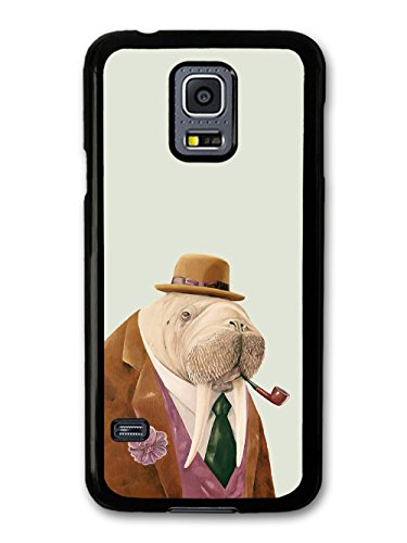 Funny Cute Walrus in a Fashionable Hat Looking Stylish and Cool coque pour Samsung Galaxy S5 mini
