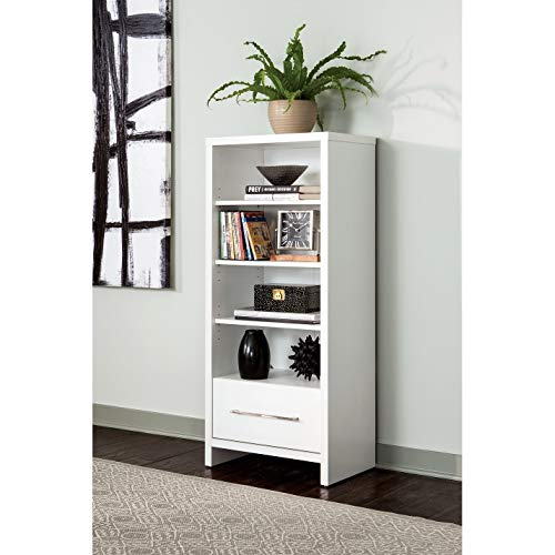 ClosetMaid 1651 Media Storage Tower Bookcase with Drawer, White