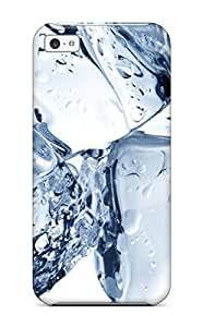 Flexible Tpu Back Case Cover For Iphone 5c - Three Ice Cubes