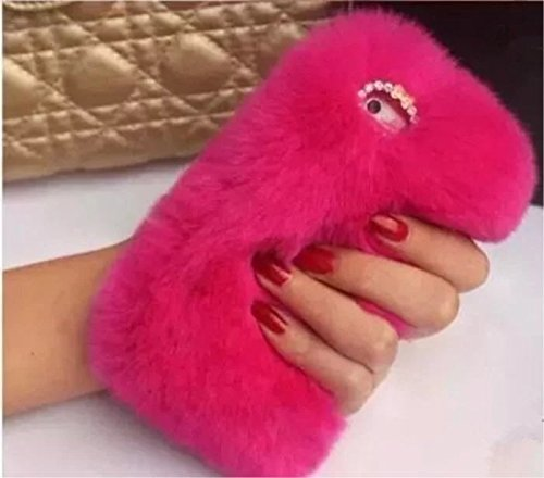 new york 33edc c1ebf iPhone 6 plus Rabbit Fur Case,iPhone 6S plus Rabbit Fur Case,Max-BLV Hot  Soft Warm Rabbit Fur Hair Furry Luxury Bling Case Cover For iPhone 6 plus  5.5 ...
