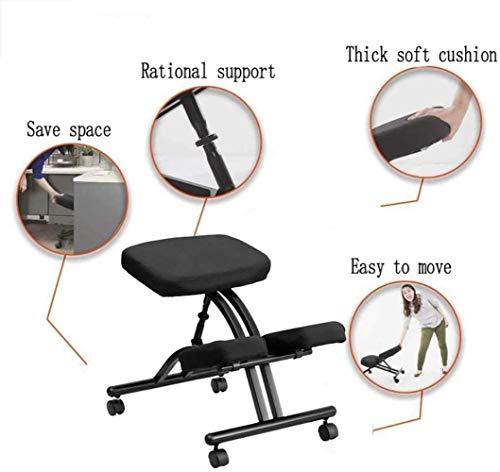 Stol ergonomisk knådande ortopedisk justerbar pall hemmakontor, perfekt för att lindra rygg- och nacksmärta och förbättra hållningen, C