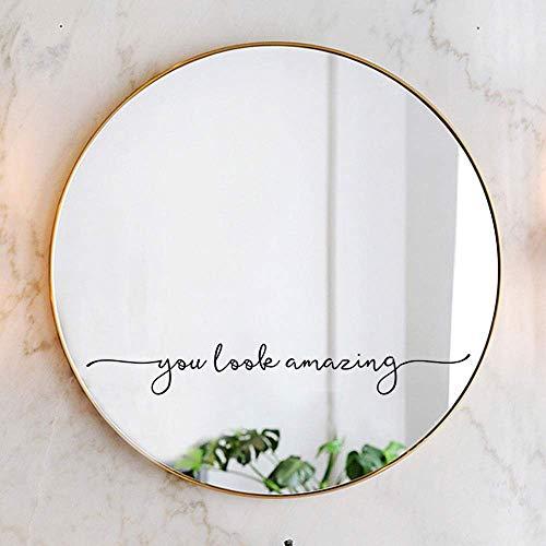 You Look Amazing Mirror Decal Vinyl Decal Bathroom Decor Shower Door Decal -