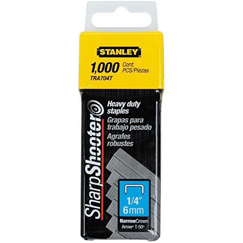 Price comparison product image Stanley TRA704T 1 / 4-Inch Heavy Duty Staples,  Pack of 1000