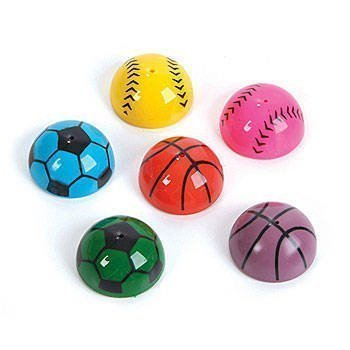 48 PC ~ Colorful Sports poppers ~ Sports Themed Party Favors ~ Coach Prize ~ Giveaway ~ Birthday Favors ~ Toy -