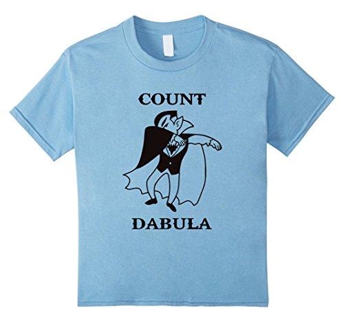 [Kids Count Dabula, Dracula Halloween Dabbing Funny T-Shirt 8 Baby Blue] (Top 10 Scariest Halloween Costumes)