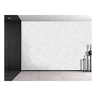 Large Wall Mural - Seamless Monochrome Pattern with Sea Shells | Self-Adhesive Vinyl Wallpaper/Removable Modern Decorating Wall Art - 100