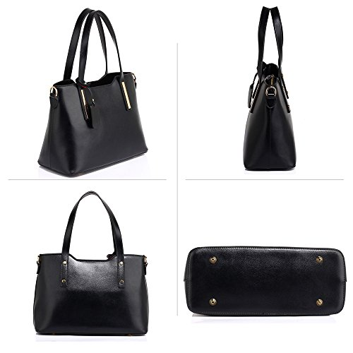 Design Large Handbags Shoulder Leather Womens New Office Bags College Black 1 Ladies Tote 1fAnTq