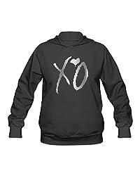 XO Platinum Logo Women Hooded Sweatshirt Black