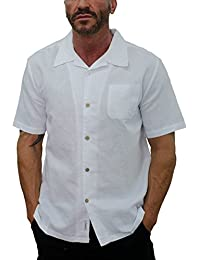 Men's Short Sleeve Camp Linen Shirt