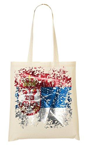 Serbia Europe Belgrade Country Series Nationality Flag Nice To Bolso De Mano Bolsa De La Compra