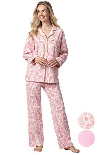 Addison Meadow Ladies Flannel Pajamas - Women Pajamas Set, Floral, L, 12-14