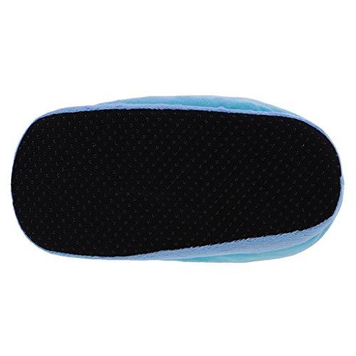Mignon Femme Fille Chausson en Doux Peluche Licorne Hiver pour MagiDeal Pantoufle Chaud Coton Bleu 7wqSxZ0nPE