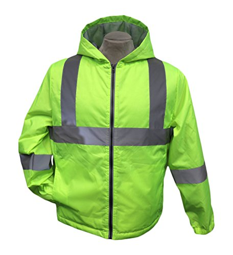 Buffalo Outdoors Men's Hi Vis Reflective Safety Windbreaker Field Jacket High Visibility, (Visibility Windbreaker)