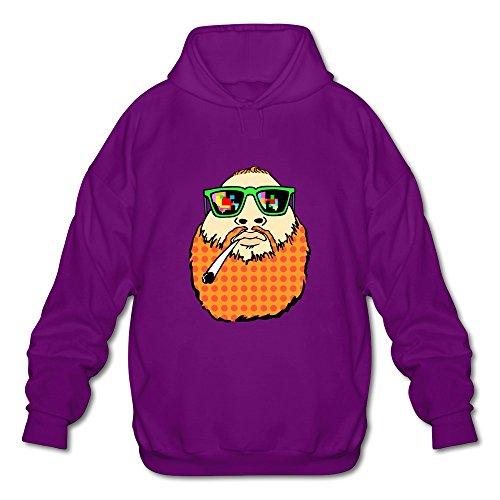 Men's Action Bronson Logo Retro Hooded Sweatshirt Purple Size M By Xuruw ()
