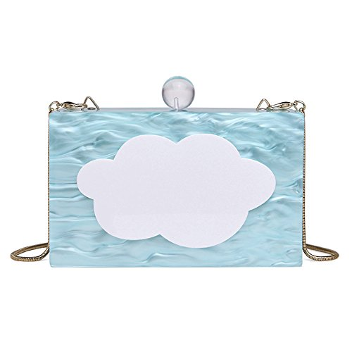 Shoulder Women Small Satchel Package Square A Chain Personalized Simple Bag Evening Tote Cloud Yx8wqz1rY