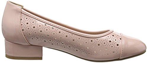 Evans Women's Block Closed-Toe Heels Pink (Pink) mK5GqT9
