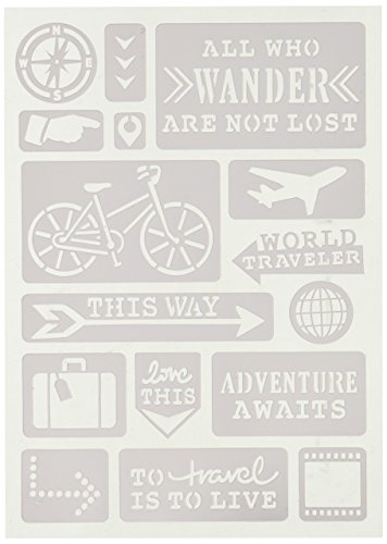 Momenta 26617 All Who Wander Adhesive Stencil