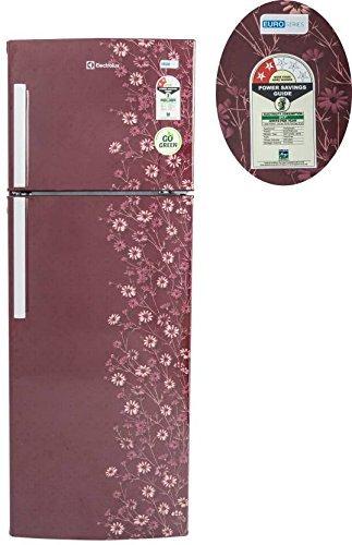 electrolux 235 l 2 star frostfree double door ep242lmd maroon daisy