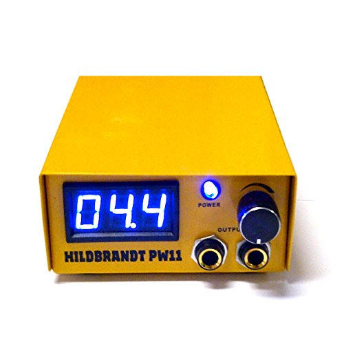 Authentic HILDBRANDT Spartan Tattoo Machine LCD Power Supply Unit AC Phono Box 2 Amp GUN